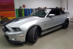 mustand silber car wrapping