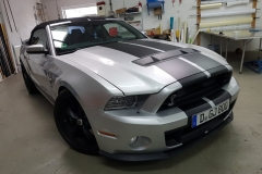 mustand silber car wrapping ralleystreifen